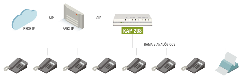 Modelo de aplicação KAP 208