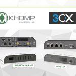 Khomp 3CX libera versão 15.5 100% compatível