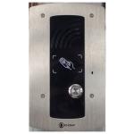 IP Wall 301 com 1 botão e leitor de RFID