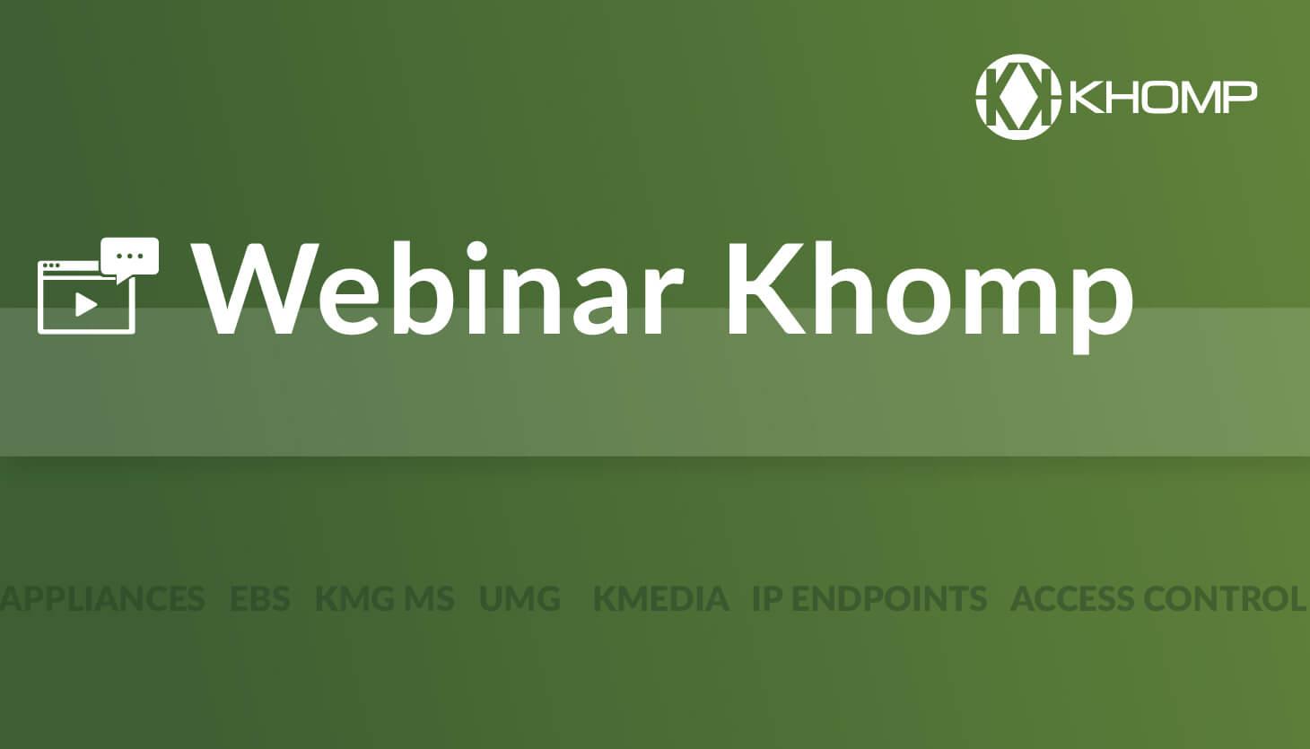 webinar Khomp portfolio available