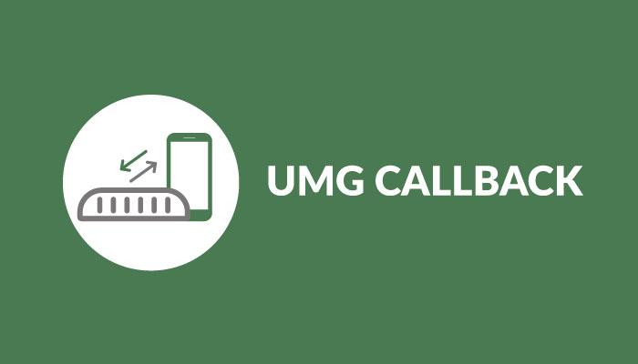 app callback no UMG