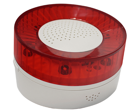 Profile View - Siren with speaker and LEDs - IoT Khomp